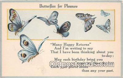 but000031 - Butterflies for Pleasure  Postcard Post Card