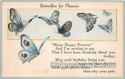 but000033 - Butterflies for Pleasure  Postcard Post Card