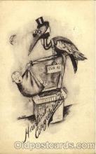 bab001006 - Artist Cobb Shinn, Baby Birth Postcard Post Card