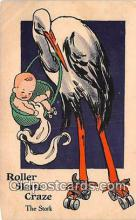 bab001040 - Roller Skate Craze The Stork  Postcard Post Card