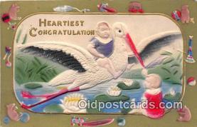 bab001130 - Heartiest Congratulation  Postcard Post Card