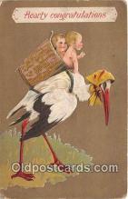 bab001139 - Baby Birth Vintage Collectable Postcards