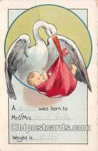 bab001142 - Baby Birth Vintage Collectable Postcards
