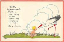 bab001162 - Baby Birth Vintage Collectable Postcards