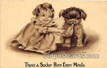 bbb001075 - Sucker Born Every Minute Artist Vincent Colby Postcard Post Card