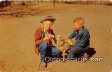 bbb001098 - Lunch Time For Junior, Boys Ranch Texas Postcard Post Card