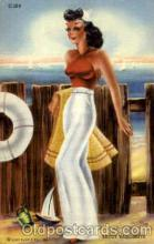 bea001058 - Saucy Sailorette Bathing Beauty Post Card Post Card