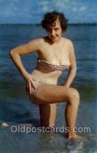 bea001205 - A cool dip Bathing Beauty Old Vintage Antique Postcard Post Card