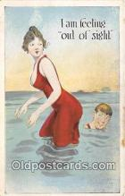 bea001303 - Beach Scene, Bathing Beauty, Vintage Collectable Postcards