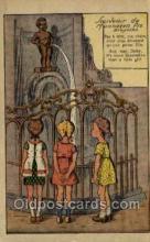 bel001002 - Souvenir de Manneken pis bruxelles Belgium Statue Old Vintage Antique Post Card Postcard