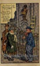 bel001008 - Souvenir de Manneken pis bruxelles Belgium Statue Old Vintage Antique Post Card Postcard