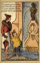bel001009 - Souvenir de Manneken pis bruxelles Belgium Statue Old Vintage Antique Post Card Postcard