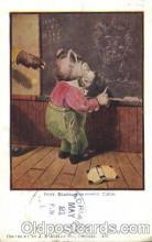 ber001047 - Bear teach Bear, Bears, Postcard Post Card