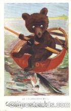 ber001052 - Bear fishing Bear, Bears, Postcard Post Card