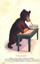 ber001061 - Bare Cooking Bear, Bears, Postcard Post Card