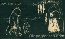ber001115 - Saturday Bear Bears Postcard Post Card Old Vintage Antique