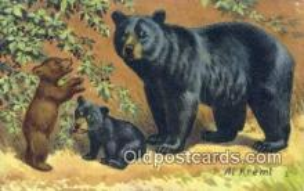 ber001235 - Artist Al Kreml Bear Bears Postcard Post Card Old Vintage Antique