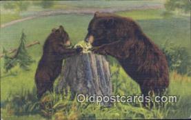 ber001385 - Bear Postcard, Bear Post Card Old Vintage Antique