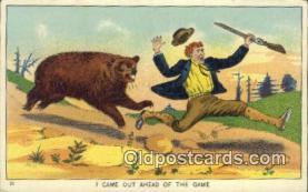 ber001400 - Bear Postcard, Bear Post Card Old Vintage Antique