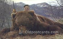ber001468 - Kodiak 10'6 Feet Bear Postcard Bear Post Card Old Vintage Antique