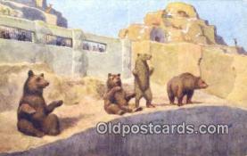 ber001540 - Bear Postcard Bear Post Card Old Vintage Antique