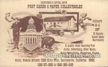 ber001714 - Ad for Postcard Show, Saramento CA, USA 1987 Bear Postcard,  Bear Post Card Old Vintage Antique