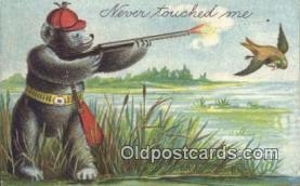 ber001743 - Never Touched Me, Bear Postcard Post Card Old Vintage Antique