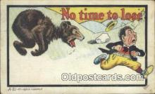 ber001744 - No Time to lose, Bear Postcard Post Card Old Vintage Antique