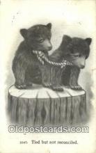ber001771 - Tied byt not Reconciled, Bear Postcard Post Card Old Vintage Antique