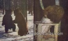 ber001787 - Yellowstone, National Park, Bear Postcard Post Card Old Vintage Antique