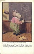 ber001794 - 437 Busy Bears Something Doing, Bear Postcard Post Card Old Vintage Antique