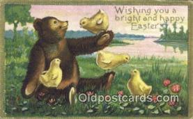 ber001830 - Wishing you a bright and Happy Easter, Bear Postcard Bears, tragen postkarten, sopportare cartoline, soportar tarjetas postales, suportar cartões postais