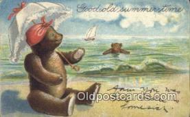 ber001831 - Good Old Summer Time Ottoman Lithographing Bears, Co. NY, Bear Postcard Bears, tragen postkarten, sopportare cartoline, soportar tarjetas postales, suportar cartões postais