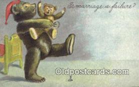 ber001833 - Is Marriage a Failure Ottoman Lithographing Bears, Co. NY, Bear Postcard Bears, tragen postkarten, sopportare cartoline, soportar tarjetas postales, suportar cartões postais