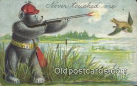 ber001834 - Never Touched Me Ottoman Lithographing Bears, Co. NY, Bear Postcard Bears, tragen postkarten, sopportare cartoline, soportar tarjetas postales, suportar cartões postais