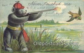 ber001835 - Never Touched Me Ottoman Lithographing Bears, Co. NY, Bear Postcard Bears, tragen postkarten, sopportare cartoline, soportar tarjetas postales, suportar cartões postais