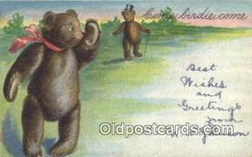 ber001845 - Come Birdie Come Ottoman Lithographing Bears, Co. NY, Bear Postcard Bears, tragen postkarten, sopportare cartoline, soportar tarjetas postales, suportar cartões postais