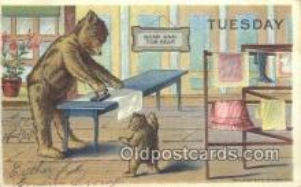 ber001849 - Tuesday William Heal, Heal Days of the Week, Bear Postcard Bears, tragen postkarten, sopportare cartoline, soportar tarjetas postales, suportar cartões postais