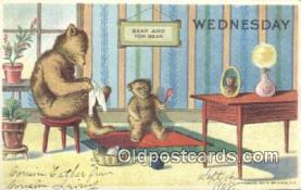 ber001850 - Wednesday William Heal, Heal Days of the Week, Bear Postcard Bears, tragen postkarten, sopportare cartoline, soportar tarjetas postales, suportar cartões postais