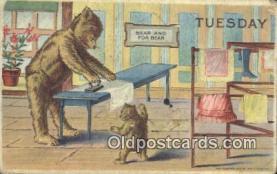 ber001852 - Tuesday William Heal, Heal Days of the Week, Bear Postcard Bears, tragen postkarten, sopportare cartoline, soportar tarjetas postales, suportar cartões postais