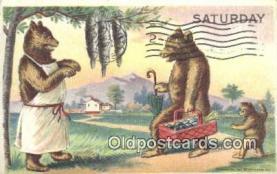 ber001860 - Saturday William Heal, Heal Days of the Week, Bear Postcard Bears, tragen postkarten, sopportare cartoline, soportar tarjetas postales, suportar cartões postais