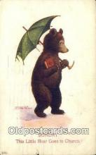 ber001864 - Sunday Busy Bear Series 79, The Ullman MFG 1906, Bear Postcard Bears, tragen postkarten, sopportare cartoline, soportar tarjetas postales, suportar cartões postais