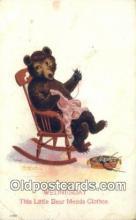 ber001866 - Wednesday Busy Bear Series 79, The Ullman MFG 1906, Bear Postcard Bears, tragen postkarten, sopportare cartoline, soportar tarjetas postales, suportar cartões postais