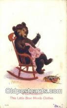 ber001867 - Wednesday Busy Bear Series 79, The Ullman MFG 1906, Bear Postcard Bears, tragen postkarten, sopportare cartoline, soportar tarjetas postales, suportar cartões postais