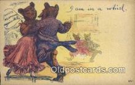 ber001870 - I Am In a Whirl Wells Bears, Bear Postcard Bears, tragen postkarten, sopportare cartoline, soportar tarjetas postales, suportar cartões postais