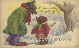 ber001872 - I Never Expected to Meet You Wells Bears, Bear Postcard Bears, tragen postkarten, sopportare cartoline, soportar tarjetas postales, suportar cartões postais