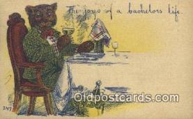 ber001874 - Joys of a Bachlors Life Wells Bears, Bear Postcard Bears, tragen postkarten, sopportare cartoline, soportar tarjetas postales, suportar cartões postais