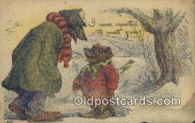 ber001876 - I Never Expected to Meet You Wells Bears, Bear Postcard Bears, tragen postkarten, sopportare cartoline, soportar tarjetas postales, suportar cartões postais