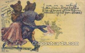 ber001877 - I Am In a Whirl Wells Bears, Bear Postcard Bears, tragen postkarten, sopportare cartoline, soportar tarjetas postales, suportar cartões postais