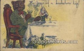 ber001879 - The Joys Of A Bachelors Life Wells Bears, Bear Postcard Bears, tragen postkarten, sopportare cartoline, soportar tarjetas postales, suportar cartões postais
